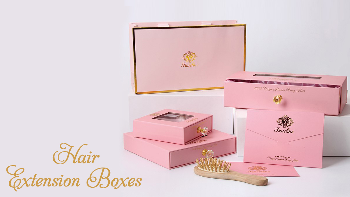 Custom printed hair extension boxes